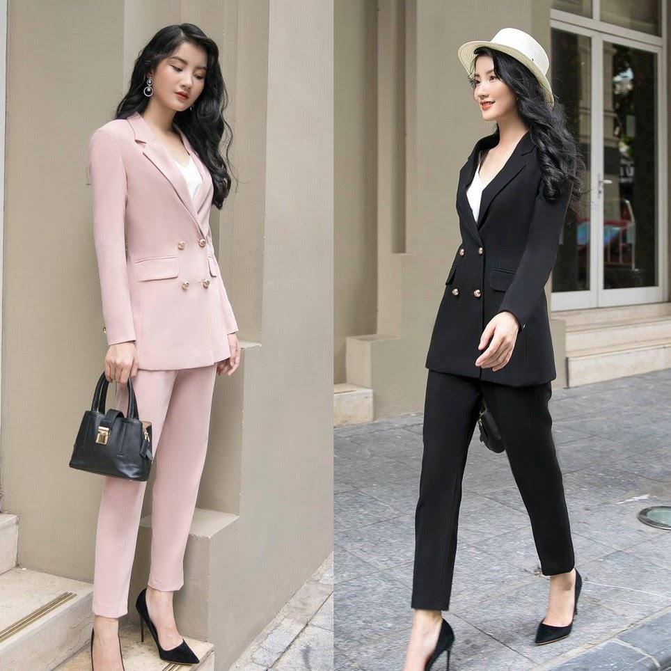 Bộ Vest Nữ Công Sở Siêu Đẹp   Shopee Việt Nam